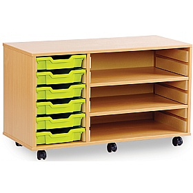 6 Tray Shallow Storage Unit With 2 Adjustable Shelves £0 -