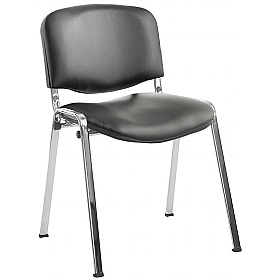 ISO Sierra Vinyl Conference Chairs Chrome Frame £67 -