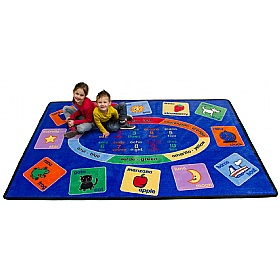 Rectangle Bilingual Rug £0 -