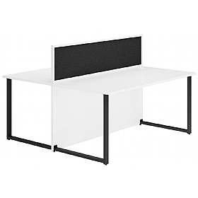NEXT DAY Concept Hoop Leg Back to Back Office Desks With Deluxe Screens £406 - Next Day Office Furniture