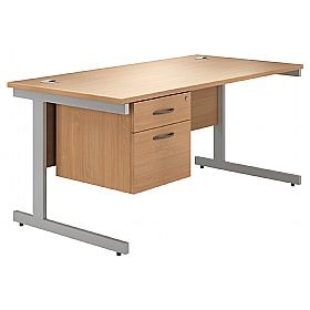 Phase Single Pedestal Cantilever Desks £188 -