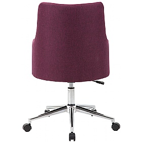 Arran Fabric Swivel Chair supplied with Castors and Glides