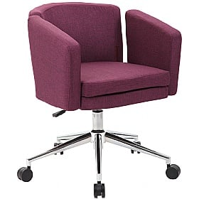 Jura Fabric Swivel Chair supplied with Castors and Glides £107 -