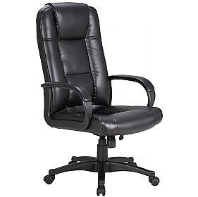 Siento Leather Faced Manager Chair £92 -