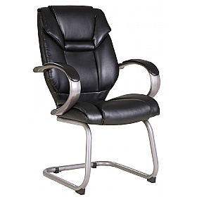 Fiji Leather Faced Visitor Chairs £93 -