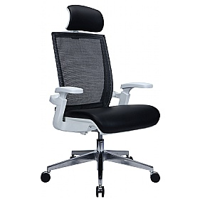 Traction Executive Leather and Mesh Task Chairs £249 -