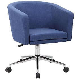 Lewis Fabric Swivel Chair supplied with Castors and Glides £100 -