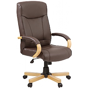 Farnham Executive Brown Leather Manager Chair £119 -