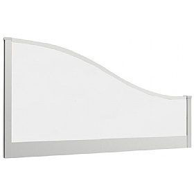 Lumiere Glazed Wave Desk Mounted Screens £0 -