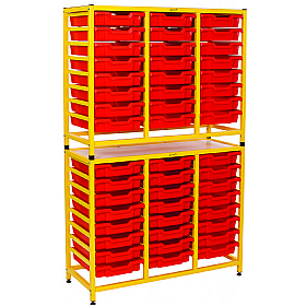 Gratnells Handy Tall Double Unit With Shallow Trays £0 -