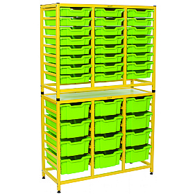 Gratnells Handy Tall Double Unit With Shallow and Deep Trays £0 -