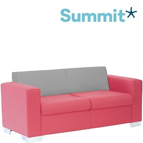 Summit Graphic Low Back Two Seater Reception Sofa £903 -