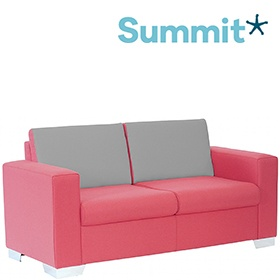 Summit Graphic High Back Two Seater Reception Sofa £948 -