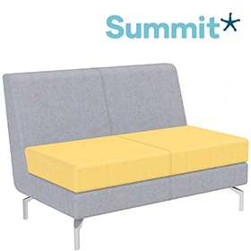 Summit Lilo Double Modular Reception Seat With No Arms £731 -