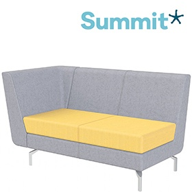 Summit Lilo Double Modular Reception Seat With Right Arm £903 -