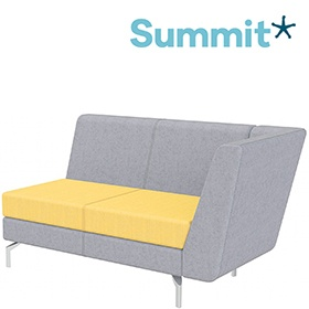 Summit Lilo Double Modular Reception Seat With Left Arm £903 -