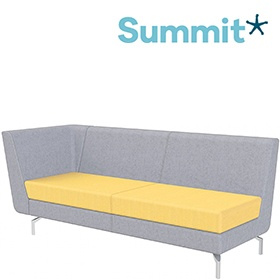 Summit Lilo Triple Modular Reception Seat With Right Arm £1111 -
