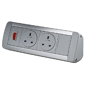 Desktop Power Module with 2 Mains Power Sockets