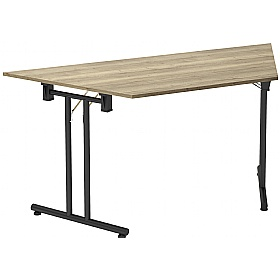 NEXT DAY Noir Trapezoidal Folding Tables
