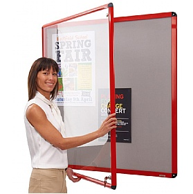 Shield Coloured Frame Tamperproof Noticeboards