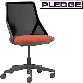 Pledge Cicero Medium Back Black Task Chair £268 -