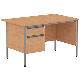 Nova Contract Rectangular H Leg Single Pedestal Desks £123 -