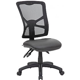 Comfort Ergo 3-Lever Leather Mesh Operator Chair £81 -