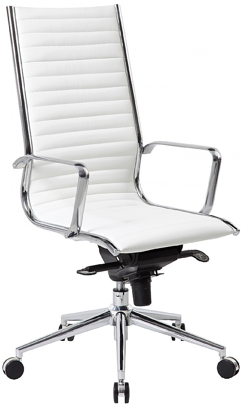 Abbey High Back White Leather Office Chair | White Leather ...