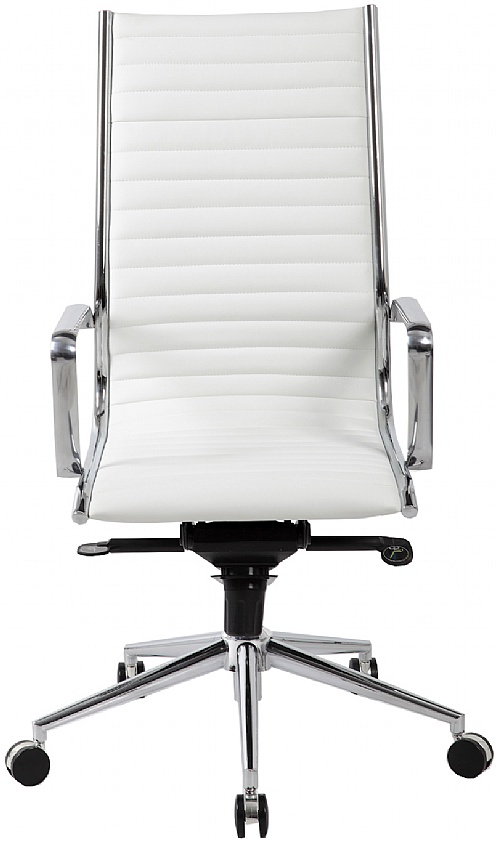Marvelous Abbey High Back White Leather Office Chair White Leather Andrewgaddart Wooden Chair Designs For Living Room Andrewgaddartcom