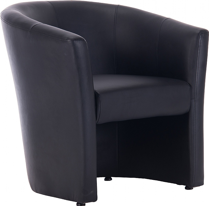 Prime Brighton Black Bonded Leather Tub Chair Tub Chairs Home Interior And Landscaping Ponolsignezvosmurscom