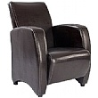 Norfolk Chocolate Leather Look Armchair