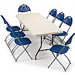 Blow Moulded Rectangular Folding Tables