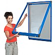 Shield® Coloured Frame Showcases