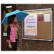 Illuminated Aluminium Framed Cork Exterior Shield Showcases