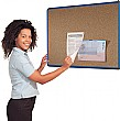 Coloured Frame Cork Shield Noticeboards