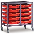 Gratnells Single Column 10 Tray Storage Trolley