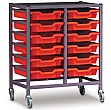 Gratnells Single Column 12 Tray Storage Trolley