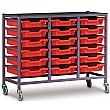 Gratnells Triple Column 18 Tray Storage Trolley
