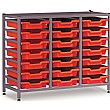 Gratnells 3 Column Low 21 Tray Storage Rack