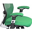 Ergo-Tek Green Mesh Office Chair Close Up