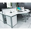 Presence Ergonomic Desk Silver & White