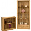 Cavalli Solid Oak Wide Bookcases
