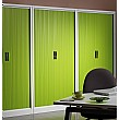 Silverline Ice Tambour Cupboards Lime