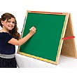 Little Acorns Solid Wood Share 'N' Write Desktop Whiteboard/Chalkboard