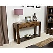 Hampshire Solid Walnut Console Table Room Shot