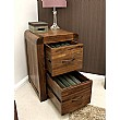 Hampshire Solid Walnut 2 Drawer Filing Cabinets