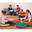 Round Story Cushions Primary Colours (Pack Of 10)