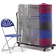 NEXT DAY Fan Back Folding Chair Trolley