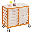 Monarch Mobile Double Column 12 Tray Trolley