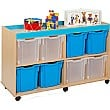 Bubblegum 8 Jumbo Tray Storage Unit